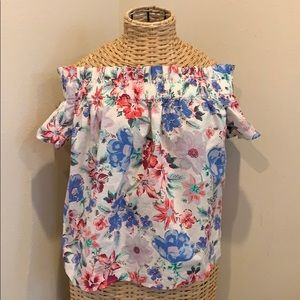 GAP off the shoulder floral top